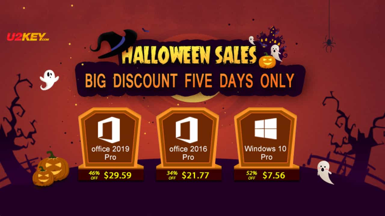 Halloween Sales: Windows 10 Pro за $7.56 та Office 2016 Pro за $21.77